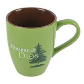 CTA, Inc., Colossians 2:7 Hombre De Dios Spanish Coffee Mug, Ceramic, Green, 10 ounces