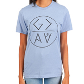 Crazy Cool Threads, God is Greater, Women's Short Sleeve T-Shirt, Heather Blue, S-2XL