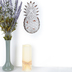 Metal Pineapple Wall Decor, Antique White, 10 x 4 7/8 inches