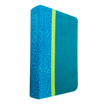 NLT Holy Bible, Personal Size, Large Print, Duo-Tone, Teal, Avocado, and Jade, Thumb Indexed