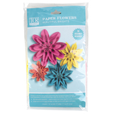 Teacher Created Resources, Beautiful Brights Paper Flowers, Assorted Sizes, Multi-Colored, Set of 4