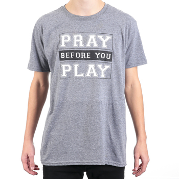 Rooted Soul, Pray Before You Play, Men's Short Sleeve T-Shirt, Graphite Heather, S-2XL