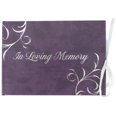 Salt & Light, In Loving Memory Funeral Guest Book, Hardcover, Purple, 5 3/4 x 8 inches