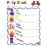 Creative Changes, Potty Chart, 8.5 x 11 Inches, Multi-Colored, 1 Piece
