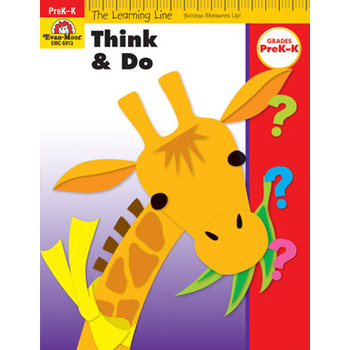 Evan-Moor, Learning Line Activity Book: Think and Do, 32 Pages, Grades Preschool-K