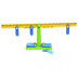Learning Advantage, Student Math Balance, Grades 1-6, 5 x 14 Inches, 21 Pieces