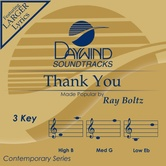 Thank You, Accompaniment Track, As Made Popular by Ray Boltz, CD