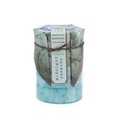 Midnight Jasmine Aromatherapy Pillar Candle, Jasmine Scented, Turquoise, 2 3/4 x 4 inches