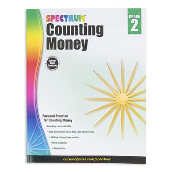 Carson Dellosa, Spectrum Counting Money Workbook, 96 Pages, Grade 2
