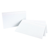 Ruled White Index Cards 5x8
