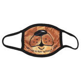 Kerusso, Life Can Be Ruff Without Jesus Dog Kids Mask, Brown, One Size Fits Most Ages 3 to 10, 1 Mask