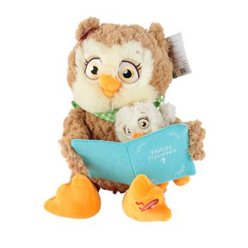 Cuddle Barn, Bible Time Plush Owl, 9 3/4 x 9 x 11 1/2 inches