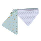 Mardel, Triangle Notepad on a Ring, Blue and Gold, 50 Lined Sheets