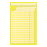 Renewing Minds, Small Customizable Incentive Chart, 14 x 22 Inches, Yellow, 1 Piece
