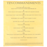 Channel Craft, The Ten Commandments Document in a Tube, 1 Piece