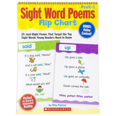 Scholastic, Sight Word Poems Flip Chart with Online Content, Spiral, 15 x 20.5, Grades PreK-1