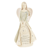 Enesco, Bless Your Retirement Angel Figurine, Resin, Cream, 4 1/2 x 1 1/2 x 2 Inches