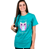 Kerusso, God is Good Owl the Time, Women's Short Sleeve T-Shirt, Jade Green