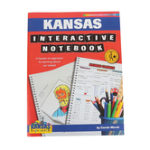 Gallopade, Kansas Interactive Notebook: A Hands-On Approach, Paperback, 68 Pages, Grades 3-5