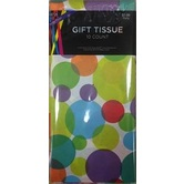 Brother Sister Design Studio, Tissue Paper, Large Confetti Dots, 20 x 20 Inches, 8 Sheets