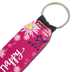 Brownlow Gifts, Live Happy Wristlet Keychain, Neoprene, Dark Pink and Purple, 6 1/2 Inches