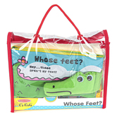 Melissa & Doug, Whose Feet Soft Activity Book, Fabric