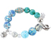 Roman, Inc., Serenity Prayer Stretch Bracelet, Clay, Silver and Blue and Gray, 7 inches