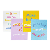 Carson-Dellosa, Growth Mindset Quotes Mini Poster Set, 8 1/2 x 11 Inches, Pack of 12