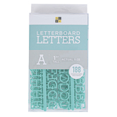 DCWV, Letterboard Letters, Plastic, Turquoise, 1 inch, 188 Letters
