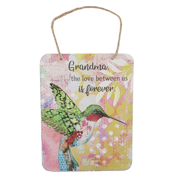 Ganz, Grandma The Love Between Us Is Forever Hummingbird Plaque, Metal, 5 1/4 x 7 inches