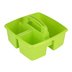 Storex, Small Caddy, Lime,  3 Compartments, Plastic, 9.25 x 9.25 x 5.25 Inches, 1 Piece