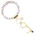 Mary Square, Clean Key Bracelet, Multicolor Leopard Print, Multi-Purpose, Rose Gold