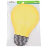 Renewing Minds, Light Bulb Shaped Notepad, 5-1/2 x 8 Inches, Yellow and Black, 50 Sheets
