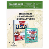 Master Books, Elementary U.S. Geography and Social Studies Teacher Guide, 216 Pages, Grades 4-6