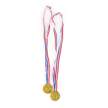 Brother and Sister Design Studio, Gold Winner Medals, 12 Pack