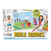 Playside Creations, Bible Heroes Jumbo Coloring Pages, 12 3/4 x 19 1/2 Inches, 18 Sheets
