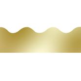 Renewing Minds, Scalloped Border Trim, 38 Feet, Metallic Gold