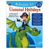 Teacher Created Resources, Activities for Unusual Holidays Activity Book, Paperback,  80 Pages, Grades 2-3