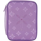 Dicksons, Jeweled Cross Canvas Bible Cover, Purple, Medium