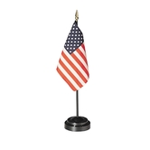 Annin & Company, U.S. Flag with Black Rod (Base Not Included), 4 x 6 Inches, 2 Pieces