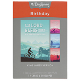 DaySpring, Outdoor Activities Birthday Boxed Cards, 12 Cards with Envelopes