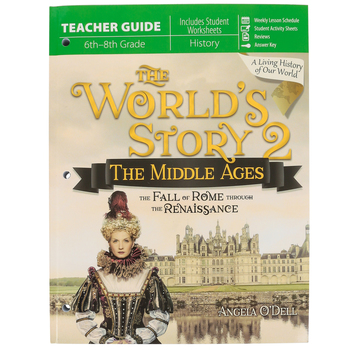 Master Books, The World's Story 2: The Middle Ages, by Angela O'Dell, Teacher, Grades 6-8