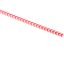 Isabella Collection, Red and White Chevron Pencil with Eraser, 7.38 Inches, 1 Each