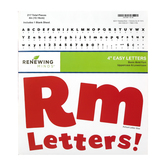 Renewing Minds, Red Bulletin Board Letters, Upper and Lowercase, 4 Inches, Red, 217 Pieces