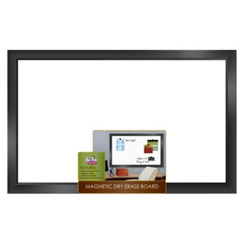 The Board Dudes, Black Framed Magnetic Dry Erase Board, 22 x 35 Inches, White, 1 Piece