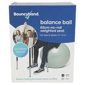 Bouncyband, Balance Ball Chair for Kids and Adults Above 5-foot 6-inches tall, Large, Silver, 65cm