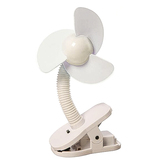 Dreambaby, Clip-On Stroller Fan, White, 5 1/2 x 10 inches