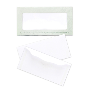 Broadman & Holman, Bill Size Blank Offering Envelopes, 6 1/4 x 3 1/16 inches, White, Set of 100