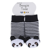 Piero Liventi, Panda Bear Boogie Toes Rattle Socks, Black & White, Ages 0 to 12 Months