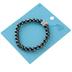Bella Grace, Crown Beaded Bracelet, Black and Silver